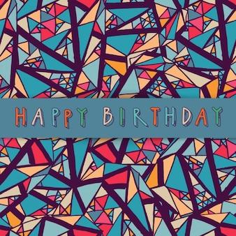 Hand drawn geometric background for birthday