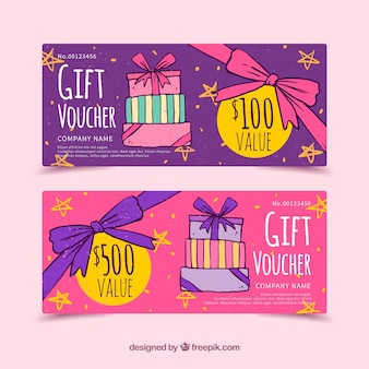 Hand drawn gift coupons