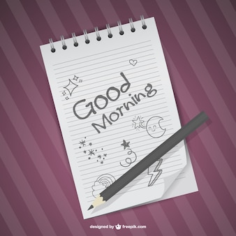 Hand drawn good morning vector
