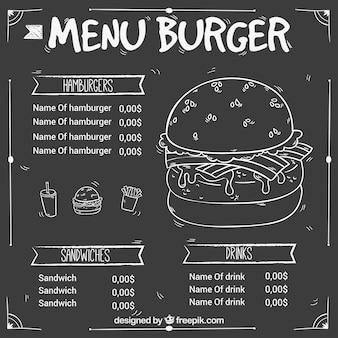 Hand-drawn hamburger menu