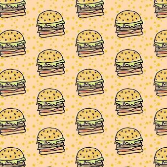 Hand drawn hamburger wallpaper