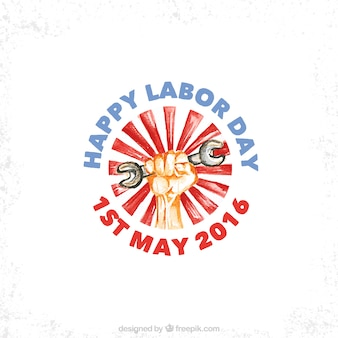 Hand drawn labor day design