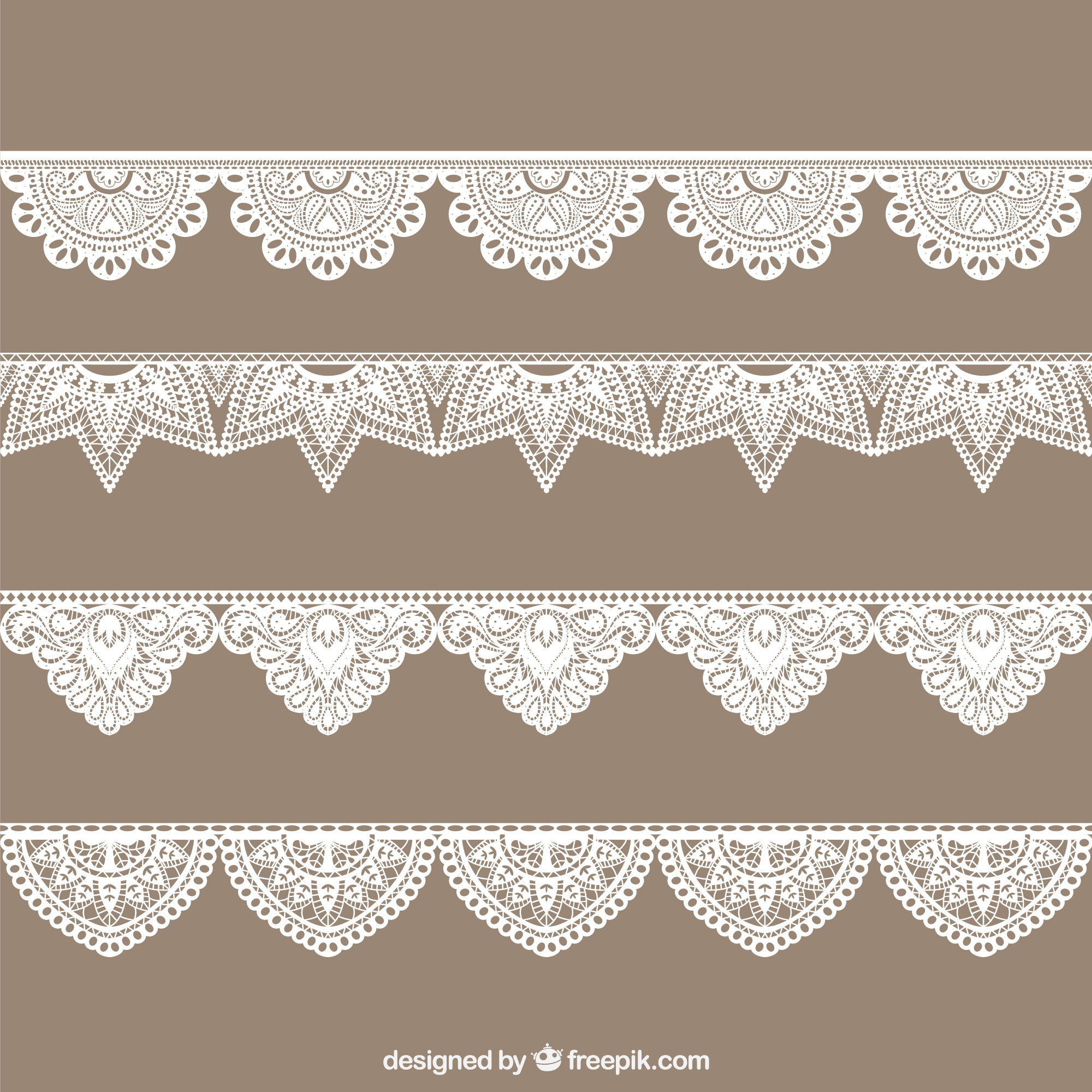 Hand drawn lace border collection
