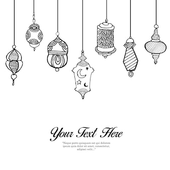Hand drawn lamps background