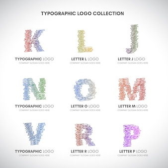 Hand drawn letter logos