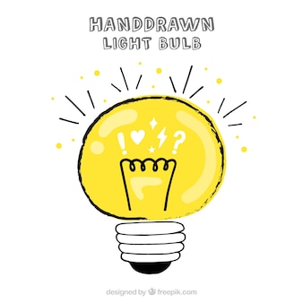 Hand drawn lightbulb