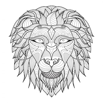Hand drawn lion background