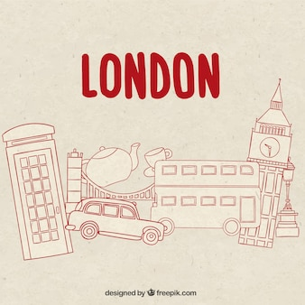 Hand drawn london elements