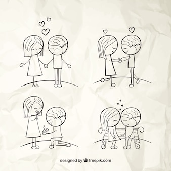 Hand Drawn Love Couples
