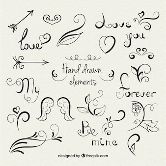Hand Drawn Love Elements