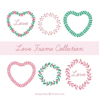 Hand drawn love frame collection
