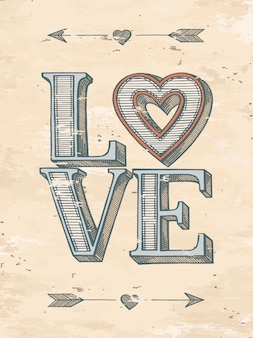Hand Drawn Love Poster