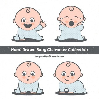 Hand drawn lovely baby character