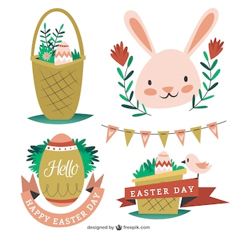 Hand drawn lovely Easter elements pack