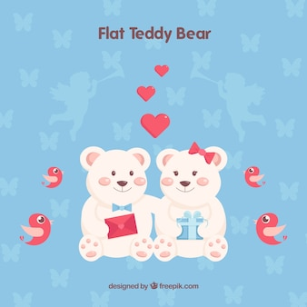 Hand drawn loving teddy bears
