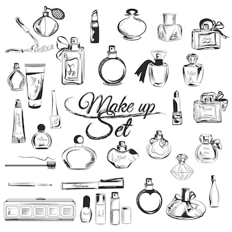 Hand drawn make up collection