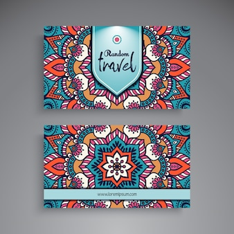 Hand drawn mandala business card