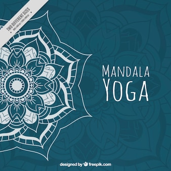 Hand drawn mandala yoga