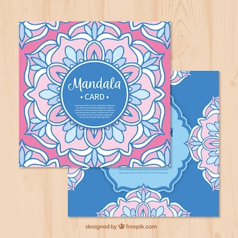 Hand drawn mandalas cards