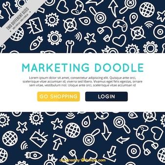 Hand drawn marketing background