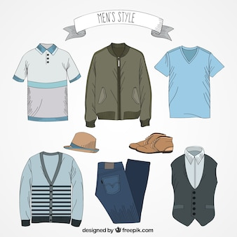 Hand drawn men's style
