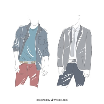 Hand drawn men style