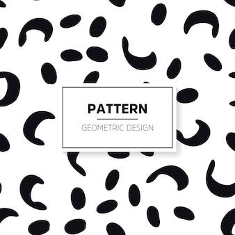 Hand drawn minimal black and white pattern