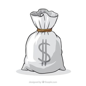 手描きのお金の袋