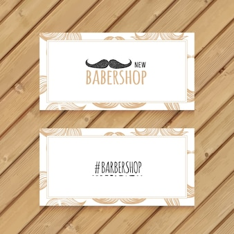 hand drawn movember business card
