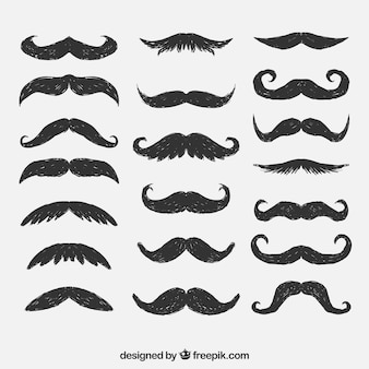 Hand drawn mustaches
