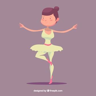 Hand drawn nice ballet dancer