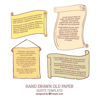 Hand drawn old papers