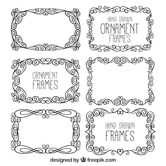 Hand drawn ornament frames