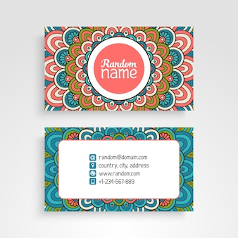 Hand drawn ornamental business card