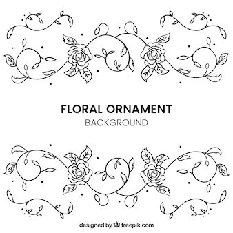 Hand drawn ornamental flower background