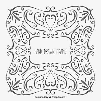 Hand drawn ornamental frame