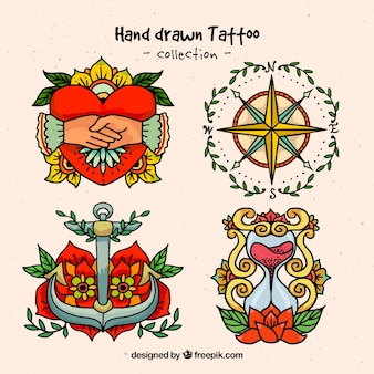 Hand drawn ornamental tattoos