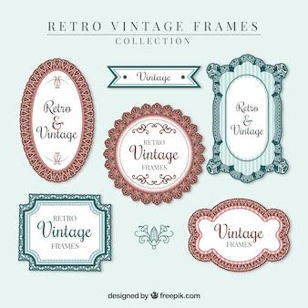 Hand drawn ornamental vintage frames