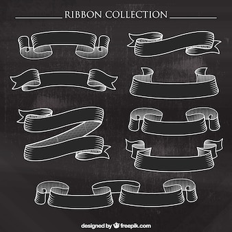 Hand drawn ornamental vintage ribbons