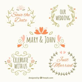 Hand drawn ornaments for wedding