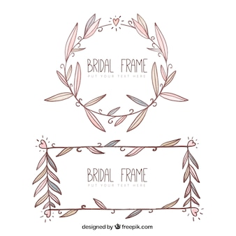 Hand-drawn pack of cute bridal shower frames