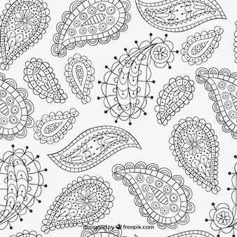 Hand drawn paisley pattern