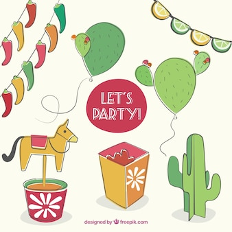 Hand drawn party decoration