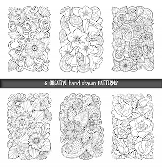 Hand drawn patterns collection