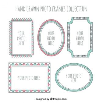 Hand drawn photo frames