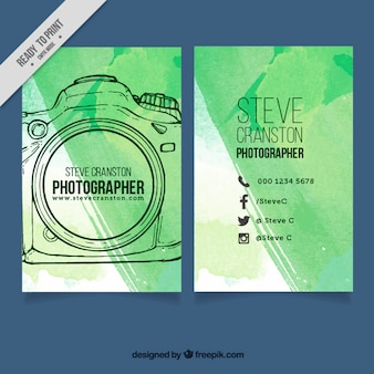 Hand drawn photographer brochure