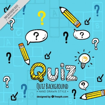 Hand-drawn quiz background