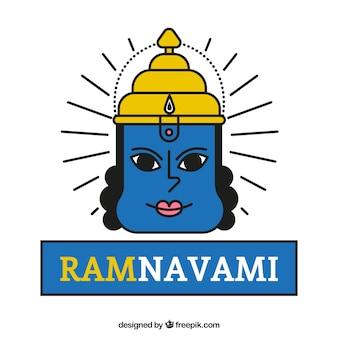 Hand drawn Ram Navami symbology background