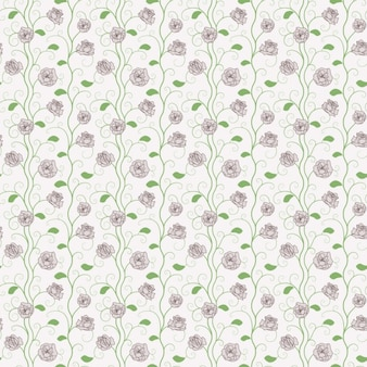 Hand Drawn Roses Pattern