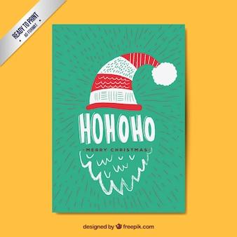 Hand drawn santa claus card